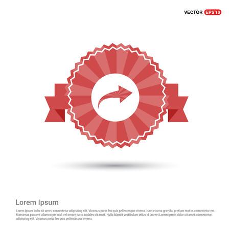 Next icon - Red Ribbon banner Illustration