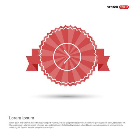 Next arrow icon - Red Ribbon banner Ilustración de vector