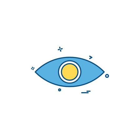 eye eyeball look search spy vision icon vector desige Banque d'images - 118270679