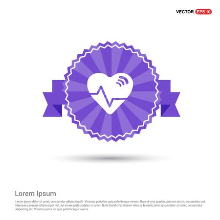 Ecg icon - Purple Ribbon banner