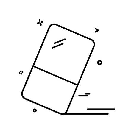 Eraser icon design vector