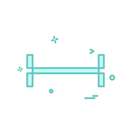 Dumbell icon design vector Stock Vector - 118270916
