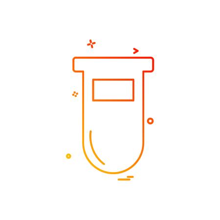 Testtube icon design vector