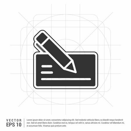 Paper note and pen icon