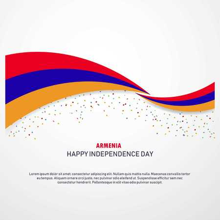 Armenia Happy independence day Background Stock Vector - 118271512