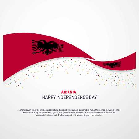 Albania Happy independence day Background