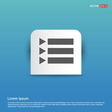 Document align icon - Blue Sticker button