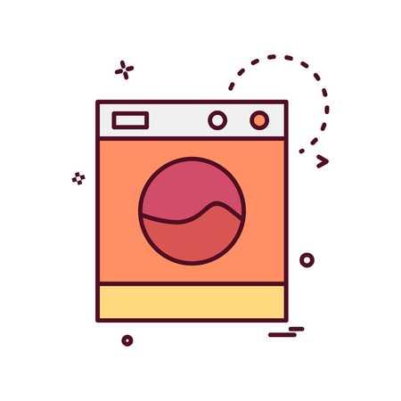 Washing machine icon design vector Stock Illustratie