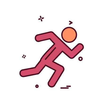 Running icon design vector Иллюстрация