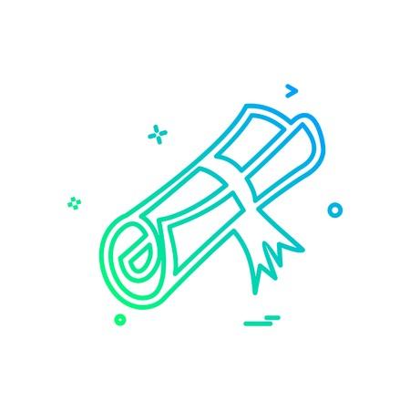 Degree icon design vector
