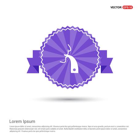 Icono de inhalador - banner de cinta morada