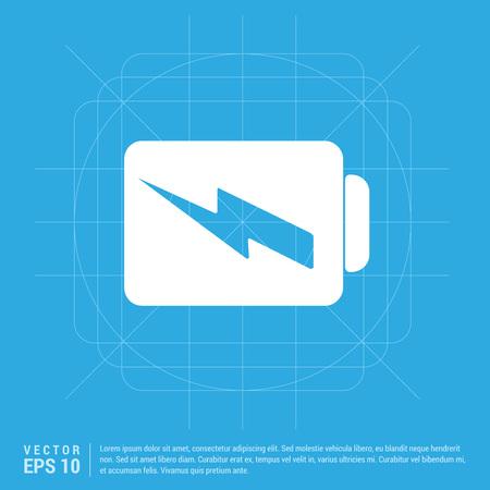 Charging battery icon Иллюстрация