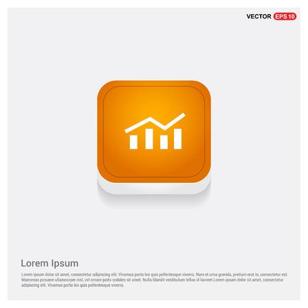 Business graph icon Orange Abstract Web Button - Free vector icon