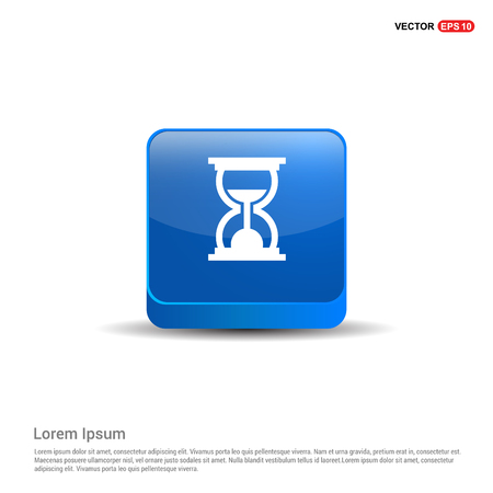 hourglass Icon - 3d Blue Button.