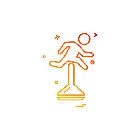 Running icon design vector Illustration