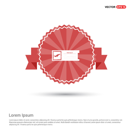 ticket icon - Red Ribbon banner