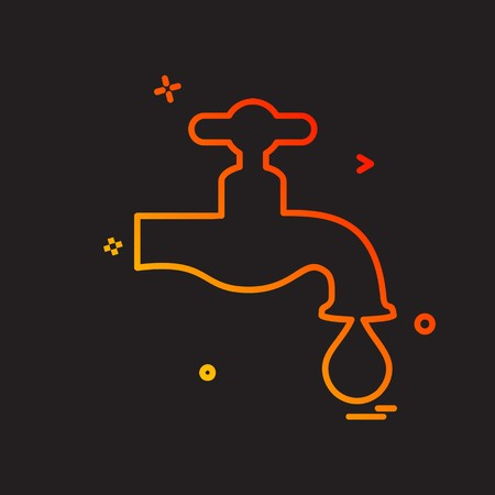 Water tap icon design vector Illustration