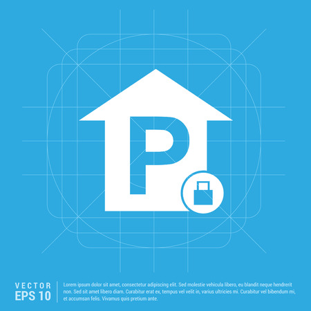 Reserved parking place icon