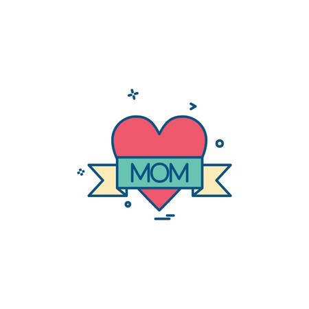 Love mom icon design vector