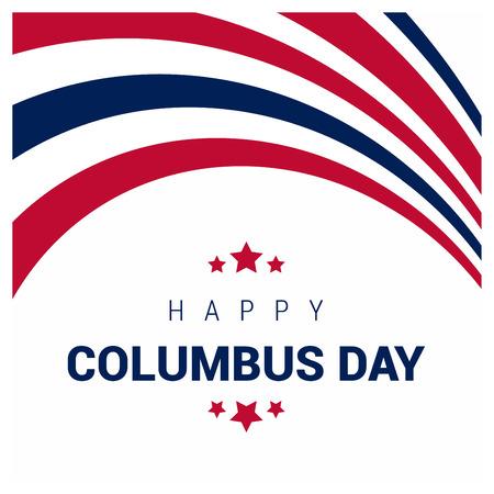 Happy Columbus day design vector Foto de archivo - 118272829