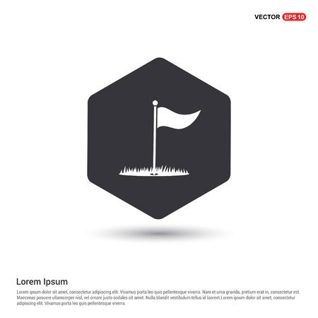 Golf Flag Icon Hexa White Background icon template - Free vector icon
