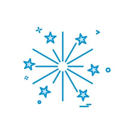 fire work icon vector design