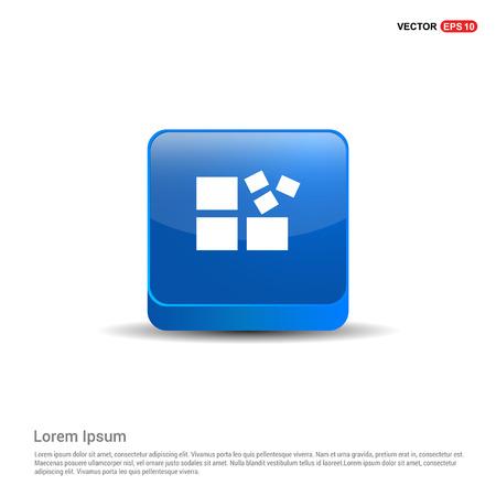 Align Icon - 3d Blue Button. Illustration