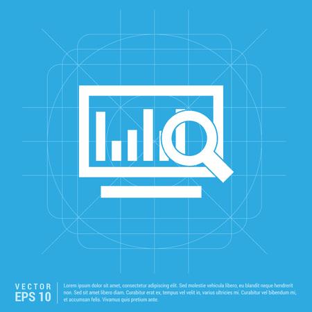 Business graph icon Illustration