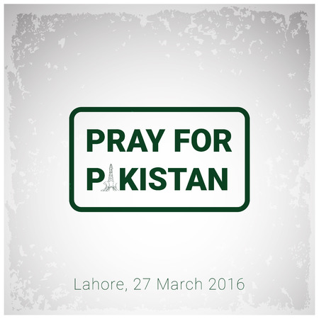 Pray for Pakistan with typographic design vector Illustration