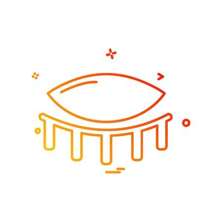 Eye icon design vector Foto de archivo - 118273924