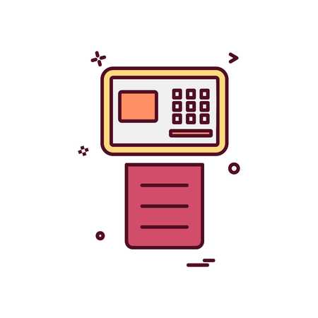 Fax icon design vector