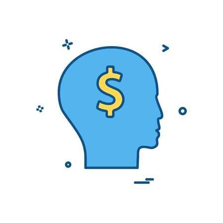 men think dollar icon vector design