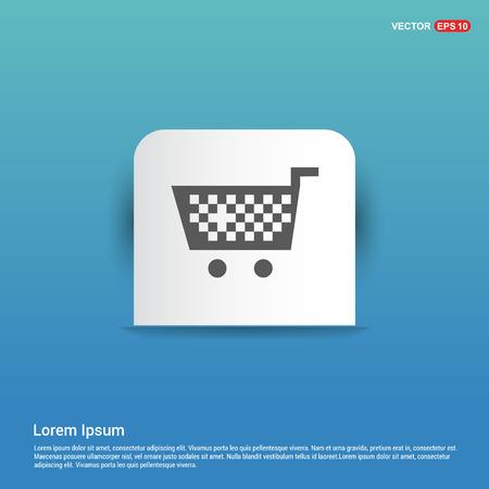 Shopping Cart icon - Blue Sticker button