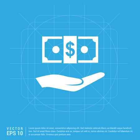 Dollar in hand Icon Standard-Bild - 110756108