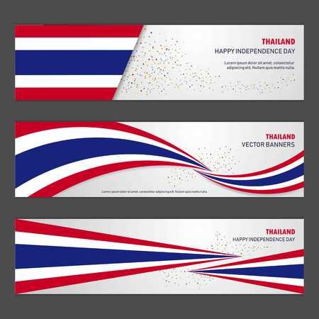 Thailand independence day abstract background design banner and flyer, postcard, landscape, celebration vector illustration Illustration