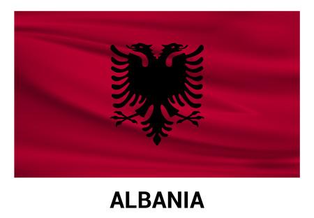 Albania flag design vector Illustration