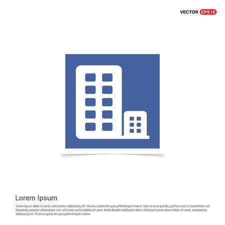 Buildings Icon - Blue photo Frame Stock Illustratie