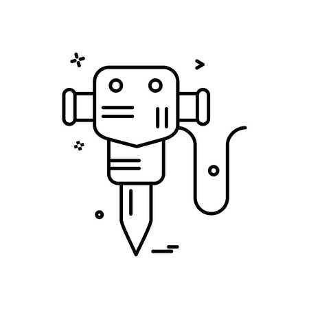 martillo jack trabajo icono vector diseño Ilustración de vector