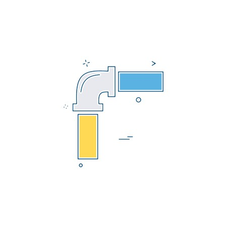 pipe labor labour water icon vector