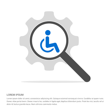 Disabled person icon - Free vector icon