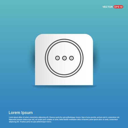 menu icon - Blue Sticker button  イラスト・ベクター素材