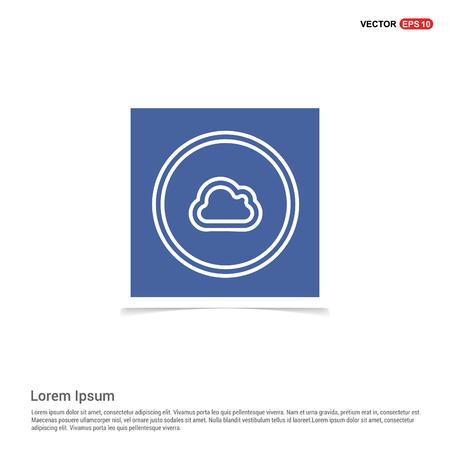 Cloud icon - Blue photo Frame Çizim