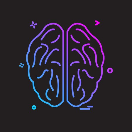Brain icon design vector Imagens - 118275812