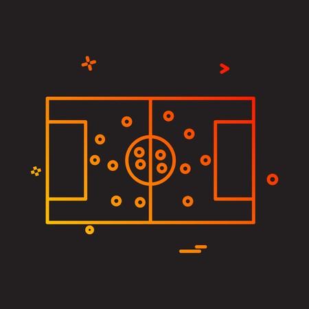 football ground icon vector design Ilustração
