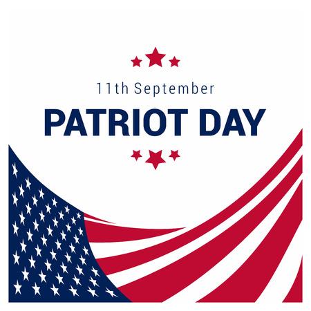 USA Patriot day design with flag vector Vektoros illusztráció