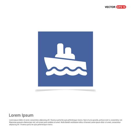 Cruise Icon - Blue photo Frame