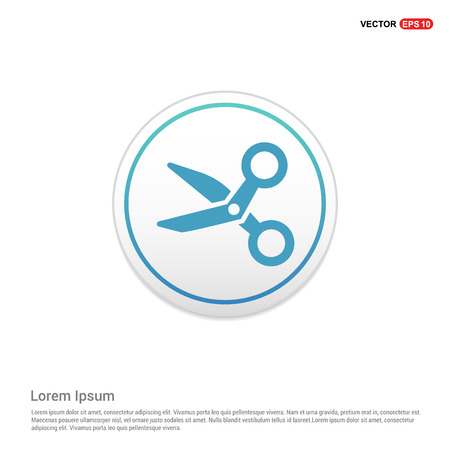 Scissors icon - white circle button