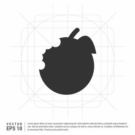 Apple fruit icon Banque d'images - 118276346