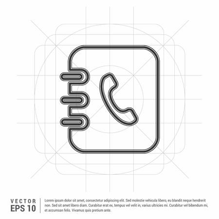 Contact book icon