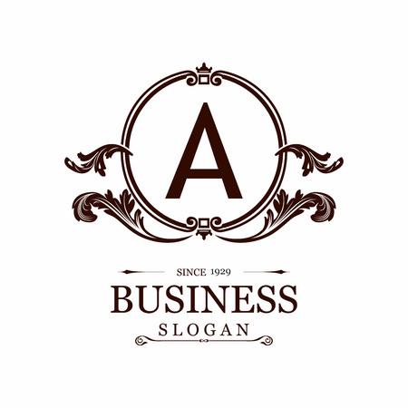 Alphabetical logo design and typography vector